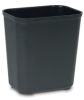 28 qt. Rubbermaid® Black Fire Resistant Wastebasket 14-1/2