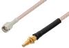 SMA Male to SSMC Jack Cable 100 cm Length Using RG316-DS Coax -- PE3W04458-100CM -Image