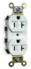 Snap Connect Receptacle,20A,Office White -- 1TGD3