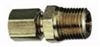 Compression pipe adapter, Brass, 1/2
