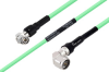 Temperature Conditioned TNC Male Right Angle to N Male Right Angle Low Loss Cable 48 Inch Length Using PE-P300LL Coax -- PE3M0246-48 -- View Larger Image