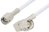 SMA Male to SMA Male Right Angle Cable 18 Inch Length Using RG188-DS Coax -- PE3779-18 -Image