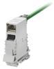Passive Industrial Ethernet IP20 Mounting Rail Outlet / Patch Panel Mounting Rail Outlet RJ45 Module -- IE-TO-RJ45-FJ-P