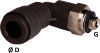 90° Male Elbow Connector - Image