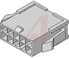 .165 Mini-Fit Jr. Plug Housing, Dual Row, without Panel Mount Ears 8 pos -- 70090813 - Image