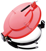 PIG Latching Lid for Fiber Drum Red For Fiber Drums, For 30 gal., Fast Connecting Latching & Locking Drum Lids DRM1124-RD -- DRM1124