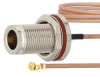N Female Bulkhead to UMCX 2.5 Plug Cable RG178-DS Coax in 9 Inch and RoHS Compliant -- FMCA1012-9 -Image