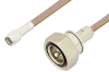 SMA Male to 7/16 DIN Male Cable 12 Inch Length Using RG400 Coax -- PE36165LF-12 -Image