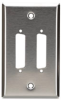 Stainless Steel Wallplate, DB25, Single-Width, 2-Punch -- WP040