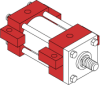 Series LH Low Pressure Hydraulic Cylinder - Model LH51 NFPA Style MS3 -- Centerline Lug Mounting