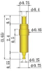 Single Ended Probe Pin -- 8YF075L365-DA - Image