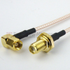 SMA Female Bulkhead to RA SMC Male Cable RG-316 Coax in 36 Inch and RoHS -- FMC1228315LF-36 -Image