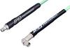 SMA Male Right Angle to SMA Female Low Loss Cable 200 cm Length Using PE-P142LL Coax, RoHS -- PE3C2305-200CM -Image