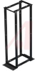 RACK;4 POST;SQ. H;19IN X 45U;ALUMINUM;BLACK -- 70067059