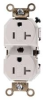 DUPLEX RECEPTACLE 20 AMP 2 POLE 3 WIRE WHITE -- IBI469953