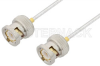 BNC Male to BNC Male Cable 24 Inch Length Using PE-SR405FL Coax, RoHS -- PE3776LF-24 -Image