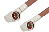 N Male Right Angle to N Male Right Angle Cable 60 Inch Length Using RG393 Coax -- PE3268-60 -Image