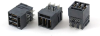 High Flow Power Backplane 1x3 Male +6 Signal Right Angle Solder Connector -- 80319RH6-C -Image