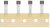 2SS52M Series anisotropic magnetoresistive (AMR) sensor IC, omnipolar, U-Pack straight leads, 5000 units/ammopack tape-in-box -- 2SS52M-T3 - Image