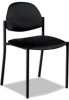 Armless Stacking Chair, Black Polypropylene Fabric, 3/Carton -- GLB2172BKPB09