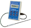 Digi-Sense Calibrated Scientific Single-Input RTD Thermometer, bullet probe -- GO-37804-07