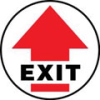 Accuform Slip-Gard Round Floor Signs: Exit -- hc-17-998-321