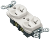 Surface Raceway : Surface Mount Boxes, Faceplates, & Receptacles : Receptacles -- EDU20EI-X - Image