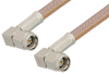SMA Male Right Angle to SMA Male Right Angle Cable 12 Inch Length Using RG400 Coax -- PE3713-12 -Image