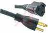 Cord, Ext; 13 A; 125 V; 10 Ft; NEMA 5-15 Plug and 5-15 Receptacle; Blk Jkt -- 70125970 - Image