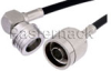 N Male to QN Male Right Angle Cable 72 Inch Length Using RG58 Coax -- PE38489-72