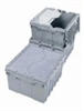 """Attached-Lid HDPE Container, 12 gal; 21-1/2"""" x 15"""" x 12-1/2"""" -- GO-47152-10 -- View Larger Image"""