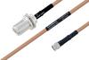 MIL-DTL-17 N Female Bulkhead to SMA Male Cable 48 Inch Length Using M17/128-RG400 Coax -- PE3M0076-48 -Image