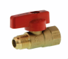 One Piece Gas Ball Valve - F X FL -- 4652