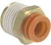 Connector, Pneumatics; 5/16 in.; 3/8 in.; 17.46 mm (Hex.); 6 mm (Min.); NTP -- 70070339 - Image