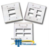 Siemon Double Gang Stainless Steel Faceplate for MAX.. -- MX-FP-D-06-SS