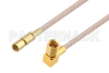 SSMC Plug to SSMC Plug Right Angle Cable 18 Inch Length Using RG316 Coax -- PE3C4404-18 -Image