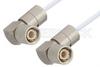 75 Ohm 1.6/5.6 Plug Right Angle to 75 Ohm 1.6/5.6 Plug Right Angle Cable 12 Inch Length Using 75 Ohm RG187 Coax -- PE36125-12 -Image