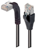Category 6 Shielded LSZH Right Angle Patch Cable, Straight/Right Angle Up, Black, 10.0 ft -- TRD695SZRA2BLK-10 -Image