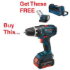 BOSCH 18V Li-Ion Compact Tough 1/2 In Hammerdrill/Driver -- Model# HDS181-01