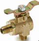 90° Ball Valves Series 591 -- 90° Flow, Male-Male Pipe Ends XV591P