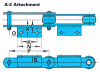 RF Conveyor Chain Basic Metric Series - A-2 (Welded) Attachment -- RF120400 - A-2 (Welded) - Image