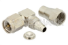 SMA Male Right Angle Connector Clamp/Solder Attachment For RG180, RG195 -- PE4579 -Image