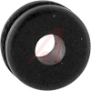 Grommet, Round; 1/8 in.; Black Buna-S Synthetic Rubber/Black Polyvinyl Chloride -- 70211290