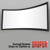 Draper's popular permanently tensioned Clarion and Onyx are now offered with a curved frame design. -- Curved Screen Clarion & Onyx