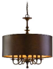 80-06 Mid. Chandeliers-Drum Shades -- 408219