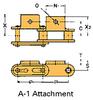 Double Pitch Conveyor Lambda Chain Attachment -- C2040-LAMBDA-A-1 - Image