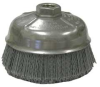 Cup Brush,5 In D,Wire 0.040/120 In -- 4GHZ4