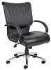 Executive Chair,39 In,Leather,Black -- 6GNN6