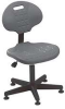 Standard Chair With Plastic Base,Gray -- 8PH81