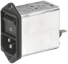 IEC Appliance Inlet C14 with Filter, Line Switch 2-pole -- KFB2 - Image
